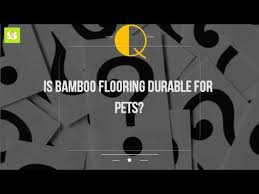 is bamboo flooring durable for pets