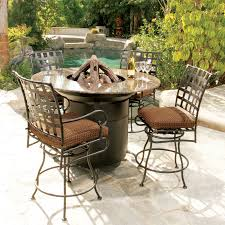 Patio Furniture Bar Height Set - bar height fire pit table set