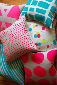 Pink Bedroom Cushions - neon cushions curio and curio home goods pinterest neon