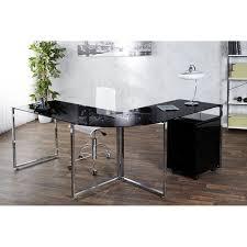 Schreibtisch Glasplatte Schreibtisch Konsolentisch Eck Schreibtisch Lagune 180x60 Glas Schwarz