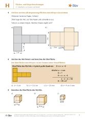 oberfläche eines würfels mach mit mathematik öbv österreichischer bundesverlag schulbuch