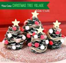 kids u0027 craft pine cone christmas tree village decoration i dig