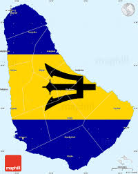 Single Flag Flag Simple Map Of Barbados Single Color Outside Borders And