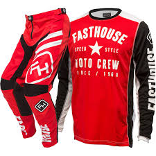 New Fasthouse Mx Speed Style Red Black Jersey Pants Vented