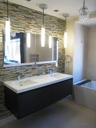 bathroom modern bathroom design with daltile wall and rectangular