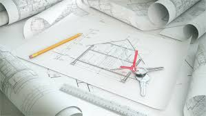architectural drafting blueprint background loop stock footage