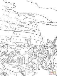 tower of babel coloring pages free coloring home