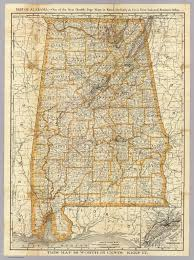 Alabama State Map Of Alabama Rand Mcnally And Company 1893