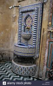 blue city morocco chair fez morocco a public drinking fountain in the old city of fez