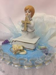 Decoration For First Communion Amazon Com First Holy Communion Boy Bible Favor Cake Topper