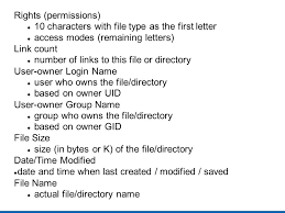 Count Characters In Access Files Directories Links And Lots More Ppt