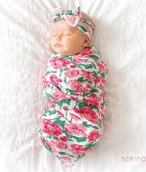 baby bling bows baby bling bow swaddle set in watercolor floral shop soft
