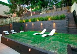 Backyard Terrace Ideas Backyard Play Area Ideas The Steep Gradient Of This
