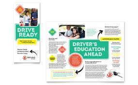 drive brochure templates driving school brochure template design