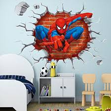 Kids Room Wall Stickers by Wall Decals For Teen Girls Volleyball 3d Spider Man Kids Room