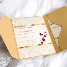 pocket invitation envelopes gold damask and hearts pocket wedding invitations