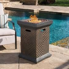 Fire Pit Lava Rock by Chesney Outdoor 19 Inch Column Propane Fire Pit With Lava Rocks