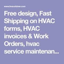 hvac invoice form free download hvac invoice templates