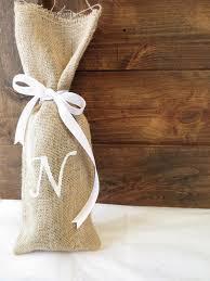 burlap gift bags custom monogram burlap gift bag personalized wine gift bag wine