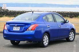 nissan versa blue nissan versa 2012 rear side muscle cars zone