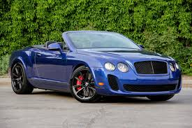 Msrp Bentley Continental Gt 2012 Bentley Continental Supersports Convertible Information And
