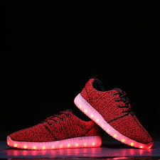 Kids Light Up Shoes Kids Light Up Trainers Yezi Easy Clean