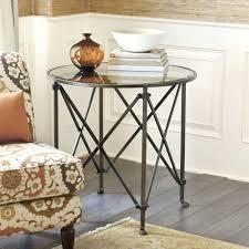 olivia 30in round mirrored side table ballard designs new