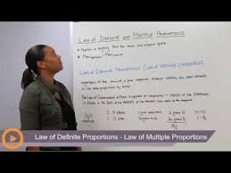 law of definite proportions law of multiple proportions youtube