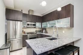 contemporary kitchen contemporary kitchen with stone tile glass panel in washington