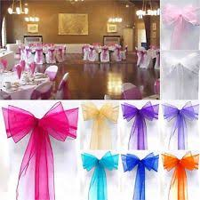 organza sashes 100 chair sashes venue decorations ebay