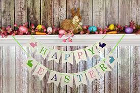 Easter Decorations Amazon by Amazon Com Easter Decorations Happy Easter Banner Bunny Galand
