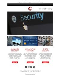 6 free and professional newsletter templates for security system