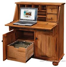 Drop Leaf Computer Desk Hoot Judkins Sedona Rustic Oak Wood Drop Lid Laptop Desk Medium Office