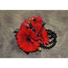 Red Prom Corsage Prom Flowers The English Garden Flower Shop