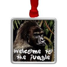 silverback gorilla ornaments keepsake ornaments zazzle