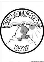 Groundhog Day Coloring Pages On Coloring Book Info Groundhog Color Page