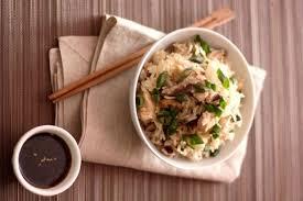 cuisiner le riz recette de riz thaï au poulet mariné et shiitaké au cuit vapeur