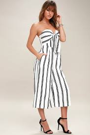 strapless wide leg jumpsuit chic striped jumpsuit wide leg jumpsuit midi jumpsuit