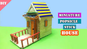 diy miniature popsicle stick house easy craft idea for kids