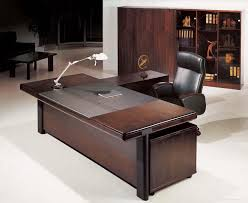 Black Leather Desk Mat Alluring Executive Office Desk L Shape Steel Construction White
