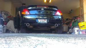 2003 hyundai tiburon exhaust system stock 2 7l 2003 hyundai tiburon gt cold start exhaust sound