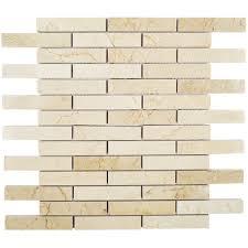 Marble Mosaic Tile Crema Marfil Big Brick Marble Tile Tilebar Com