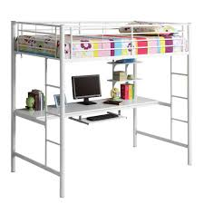 girls loft bed desk bedroom white metal girls loft bunk bed with desk and 2 straight