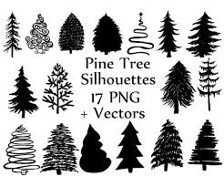 tree silhouette clipart pine trees