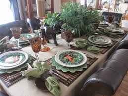 the welcomed guest it u0027s a jungle out there tablescape
