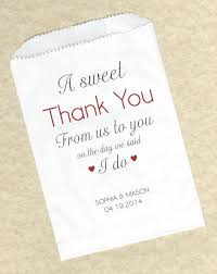 personalized party favor bags 50 sweet thank you wedding personalized candy buffet party favor