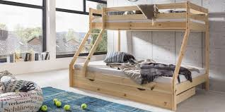 Wood Three Person Bunk Bed  The Three Person Bunk Bed  Modern - Three bed bunk bed