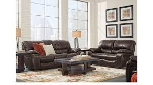 3 Pc Living Room Set 2 495 00 Sand Beige Erson Walnut Brown Leather 3 Pc