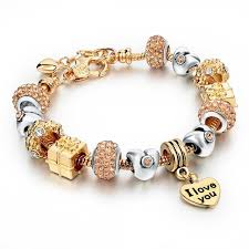 crystal heart charm bracelet images Crystal heart charm bracelets trintok jpg