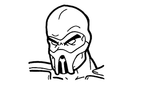 dessin tribal facile how to draw scorpion from mortal kombat youtube